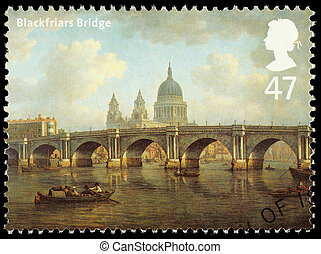 Bridges of London Postage Stamp - UNITED KINGDOM - CIRCA...