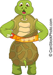 Funny Turtle. Diet.