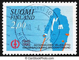 Postage stamp Finland 1990 War Veteran - FINLAND - CIRCA...