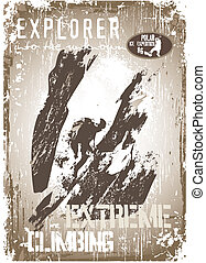 extreme climbing 2 - shirt printed and poster