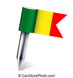 Vector Mali country flag isolated on white. Eps10