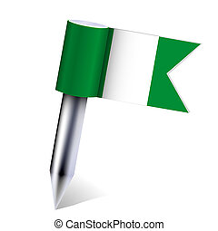 Vector Nigeria country flag isolated on white. Eps10