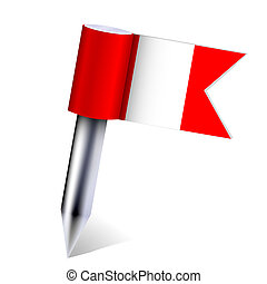 Vector Peru country flag isolated on white. Eps10