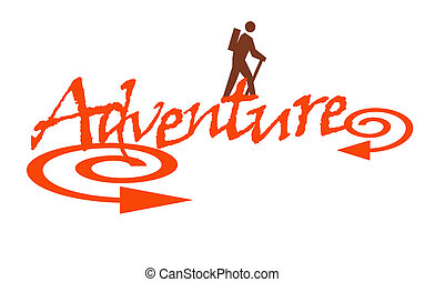 Adventure - illustration of text spelling adventure with...