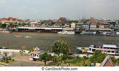Chao phraya river timelapse - Bangkok