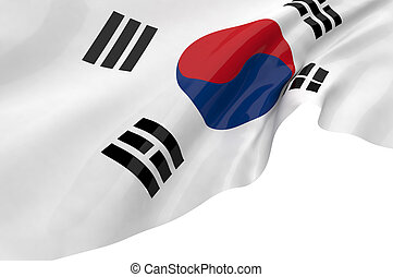 Illustration flags of Korea-South