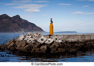 Hout Bay Breakwater - Breakwater and light in Hout Bay,...