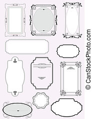 Set of ornate vector frames and or
