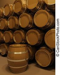 perspective of barrels