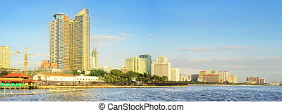 Metro Manila Bay at sunset. Philippines