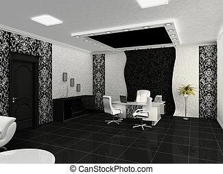 Outlook of creative office with workplace