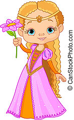 Beautiful little princess - Illustration of Beautiful little...