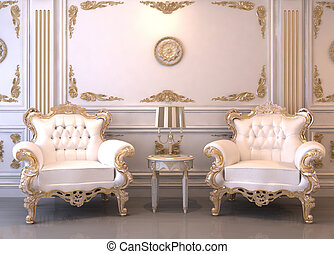 Royal furniture in luxury interior