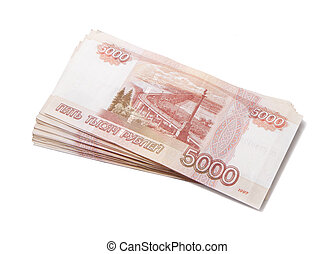 Sheaf of russian roubles