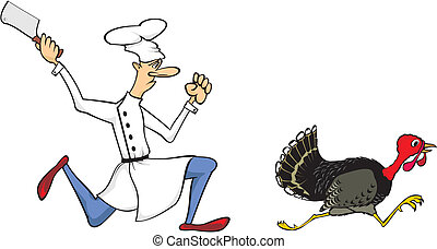 day of thanksgiving - thanksgiving dinner with turkey as a...