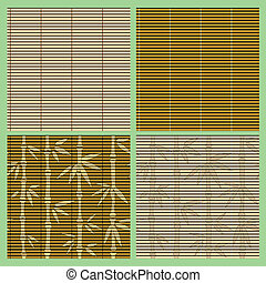 Set of seamless bamboo patterns - Vector collection of...