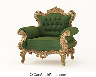 Royal armchair with luxurious frame Fabric furniture