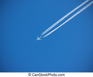 Jet plane - Big jet plane flying in 15 kilometres from...