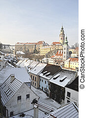 Viewing platform of Krumlov in Czech Republic