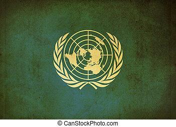 United grunge flag background