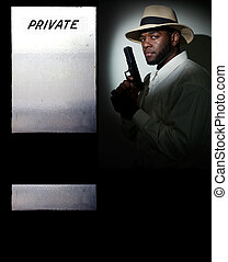 Private Detective - Black African American police private...