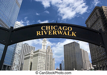 Chicago Riverwalk in the summertime