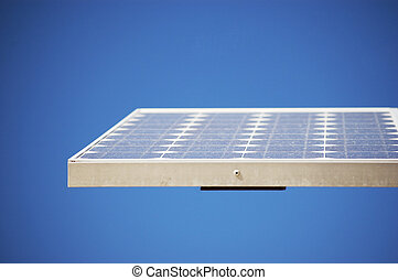 Blue Solar Panel - Solar panel soaking up the sun rays