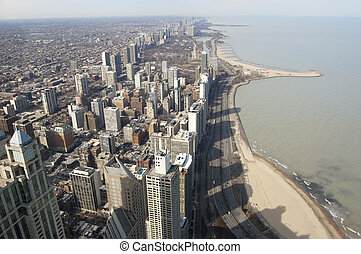 Chicago Northern Shoreline - Chicago Shoreline overlooking...