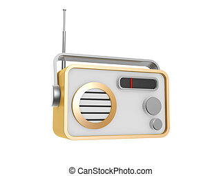 hand held radio isolated on white background