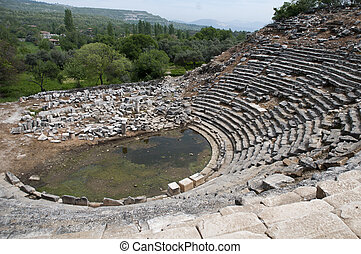 Old Theather in the acient city around mugla