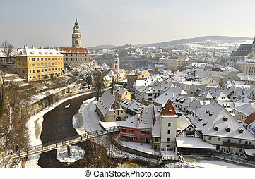The historic city of Cesky Krumlov, Czech Republic
