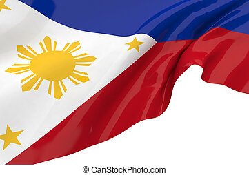 Illustration flags of Philippines