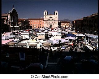 LAQUILA cathedral square - The italian city of LAquila...