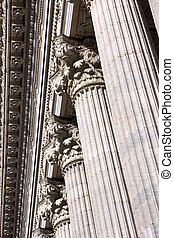 Classical Colonnade Detail - Detail of columns as classical...