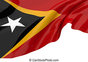 Illustration flags of Timor Leste
