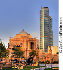 Emirates palace entrance in AbuDhabi - Emirates Palace door...