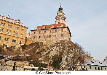 The tower in the style of the Renaissance Krumlov, Czech...