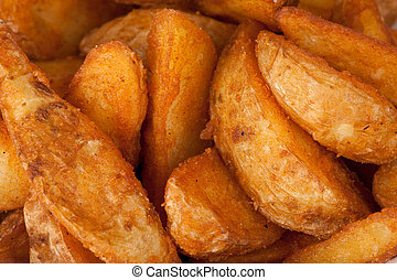 fried potato. Fast food background