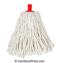 Mop of rope on a white background.