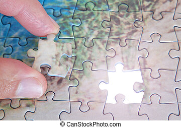 The last missing piece puzzle.