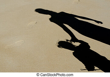 Family - Mother and Child Relationship - Shadow of mother...