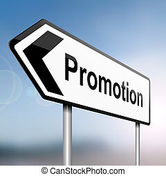 Job promotion concept - illustration depicting a sign post...