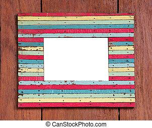 color wood frame