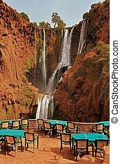 Waterfalls Ouzoud -  waterfalls of Ouzoud, Morocco