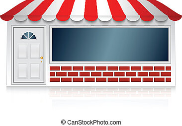 Vector illustration of shop