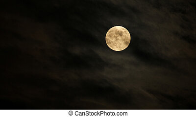 Full Moon or Super Moon captured on the evening of May 5,...