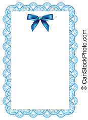 background with lace and ribbon