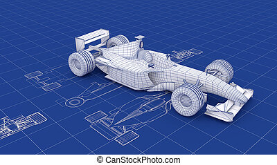 Formula One Blueprint. Party of a series.