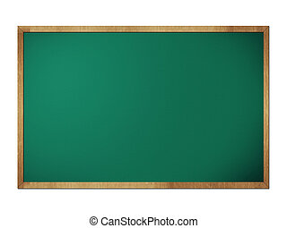 Chalkboard blackboard with frame isolated on white...