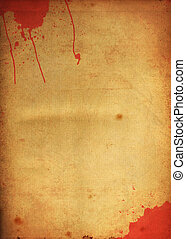 Blood stain on old paper - Blood stain on old grunge paper